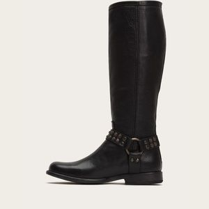 [Frye] Phillip Studded Harness Leather Boots